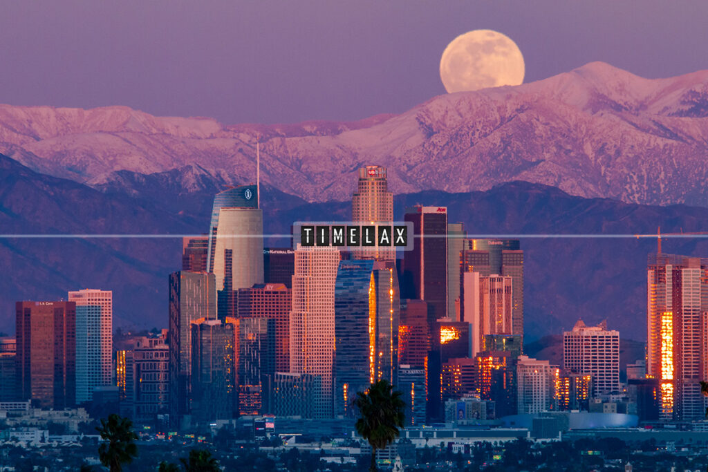 Los Angeles Full Moon Time-Lapse