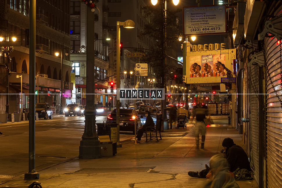 Los Angeles Time-Lapse Broadway in Downtown L.A.