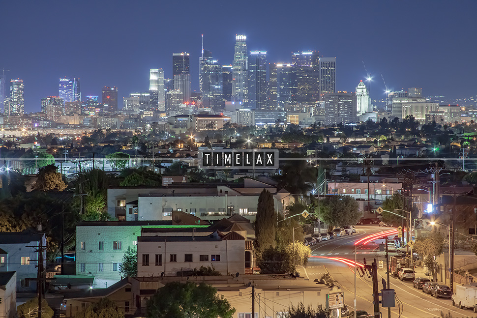 Los Angeles Time-Lapse the Skyline From East L.A.