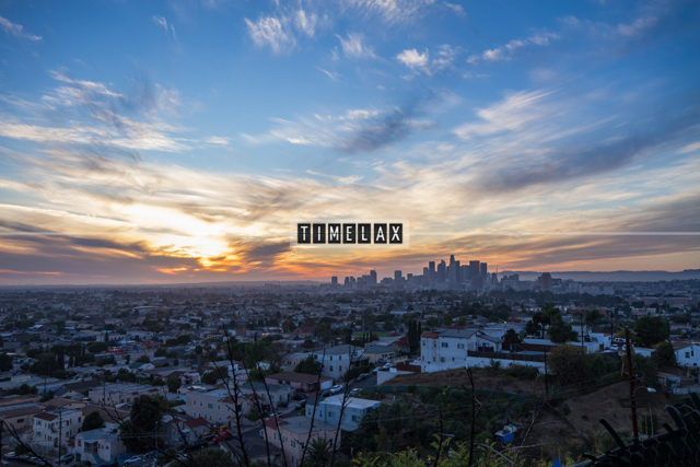 Los Angeles Time-Lapse Colorful Sunset From East L.A.