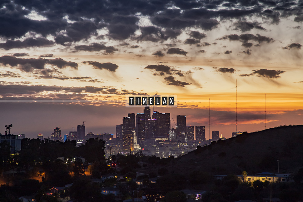 Los Angeles Time-Lapse Sunset From El Sereno